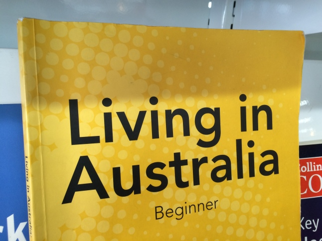 The cover of a book: Living In Australia, Beginner.